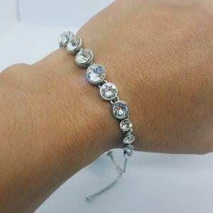 Givenchy crystal silver slider bracelet NEW!